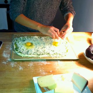 Pesto & Egg Pizza