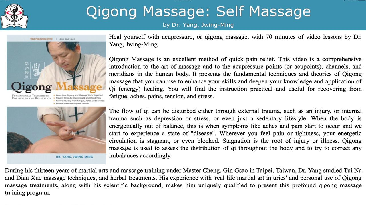 Qigong Massage: Self Massage- screenshot