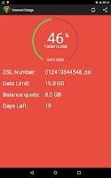 Screenshot of Internet Usage