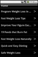 Screenshot of How to Lose Weight in a Week