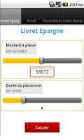 Screenshot of Livret Epargne / Simulateur