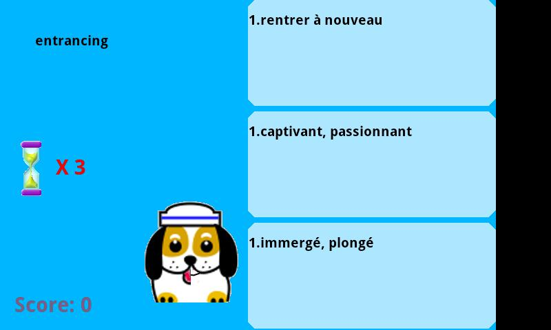English VS French words game- screenshot