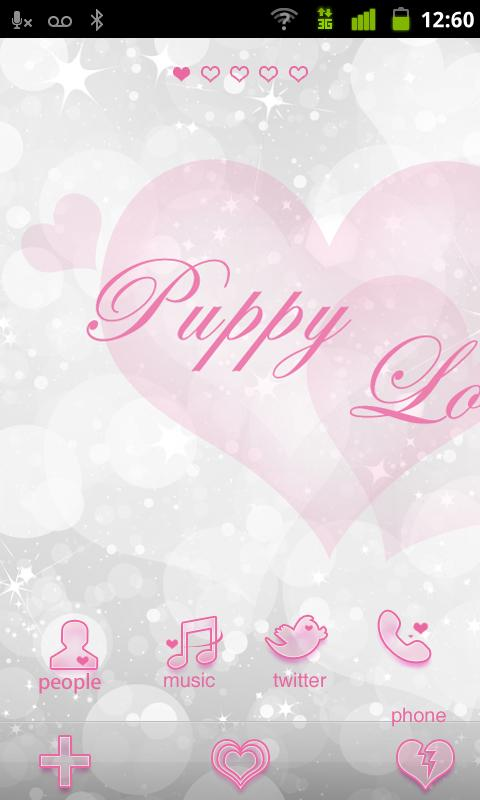 Puppy Love GO Getjar Theme - screenshot