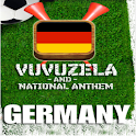 GERMANY VUVUZELA and ANTHEM! logo