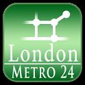 London tube (Metro 24) icon