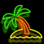 Neon Palm Tree LW
