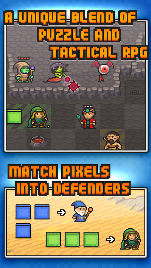 Pixel Defenders Puzzle DEMO- screenshot