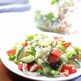 Shopska Salad (Bulgarian Salad).