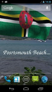 3D Dominica Flag LWP + - screenshot thumbnail