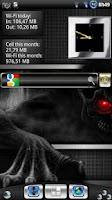 Screenshot of Metal Look Clock widget