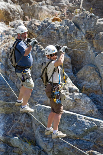 Cabo-San-Lucas-Hanging-Bridges - Crossing hanging bridges near Cabo San Lucas.