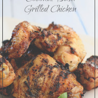 Coconut Basil Grilled Chicken.