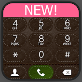 exDialer A-Brown Leather theme