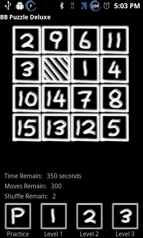 BB Blackboard Puzzle - screenshot