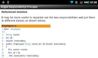 Screenshot of Principles of Class Design