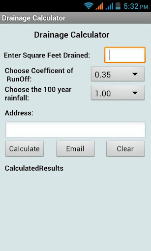 Drainage Calculator