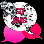 GO SMS - Rose Skulls