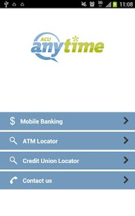 ACU Anytime Mobile Banking App - screenshot thumbnail