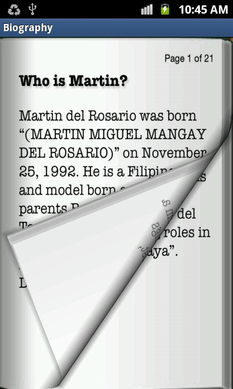 Martin Del Rosario - screenshot