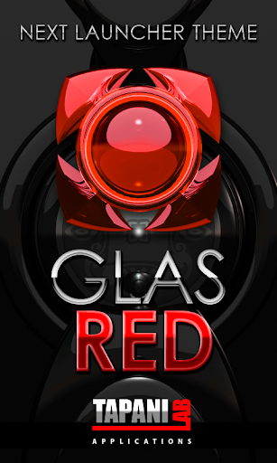 Next Launcher Theme glas red