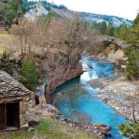 this old mill by Argirios Kostaras - Landscapes Travel ( bridge )