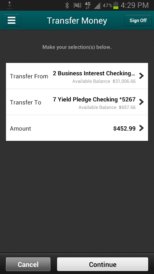 EverBank Mobile- screenshot
