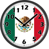 Mexico Flag Analog Clock