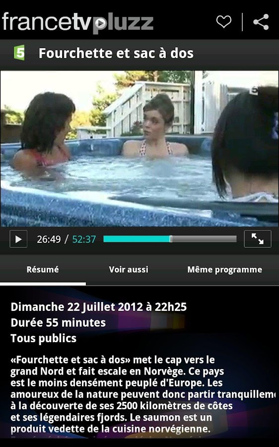 francetv pluzz - screenshot