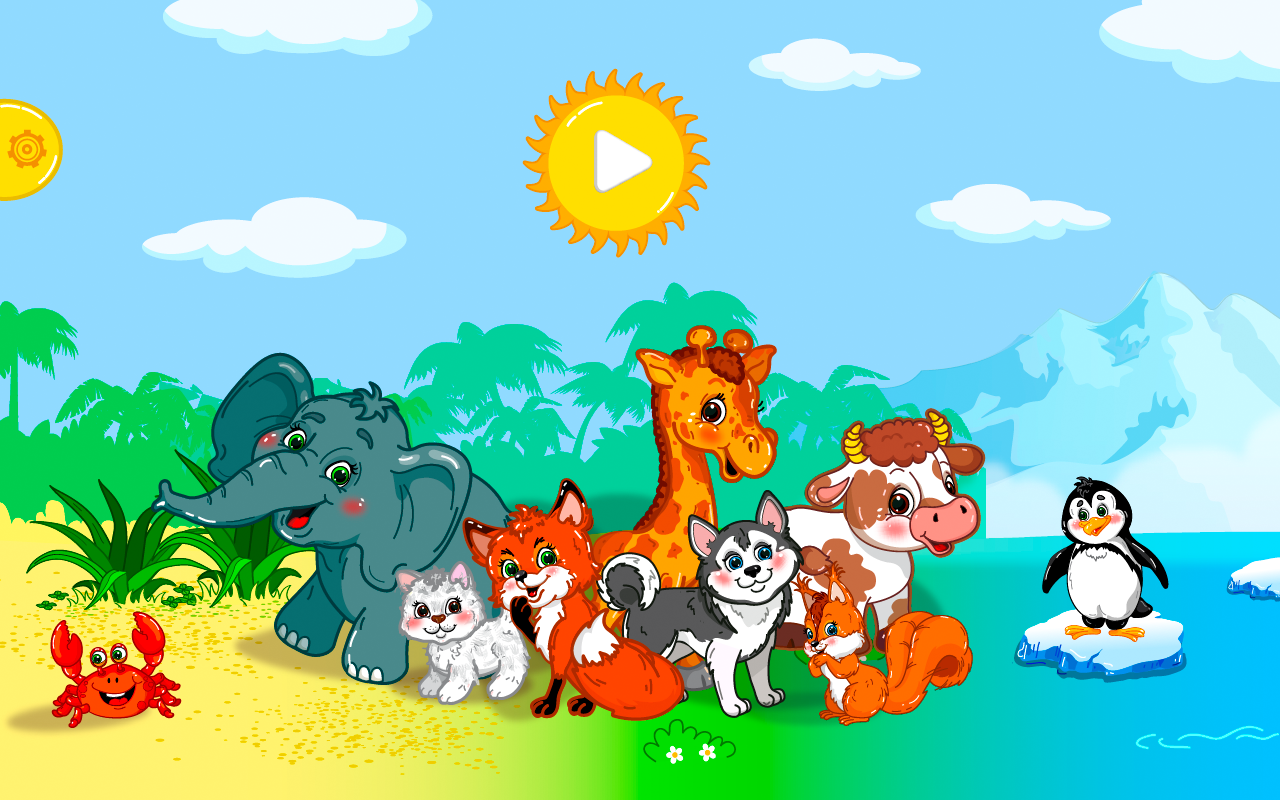 Animal puzzles for toddlers 1+ screenshot #1