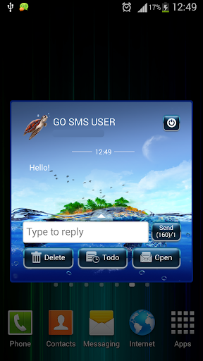 GO SMS Proのタートル