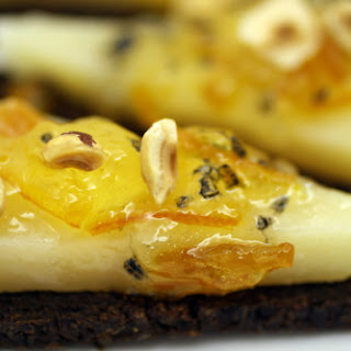 Black Bread with Manchego, Marmalade, and Hazelnuts