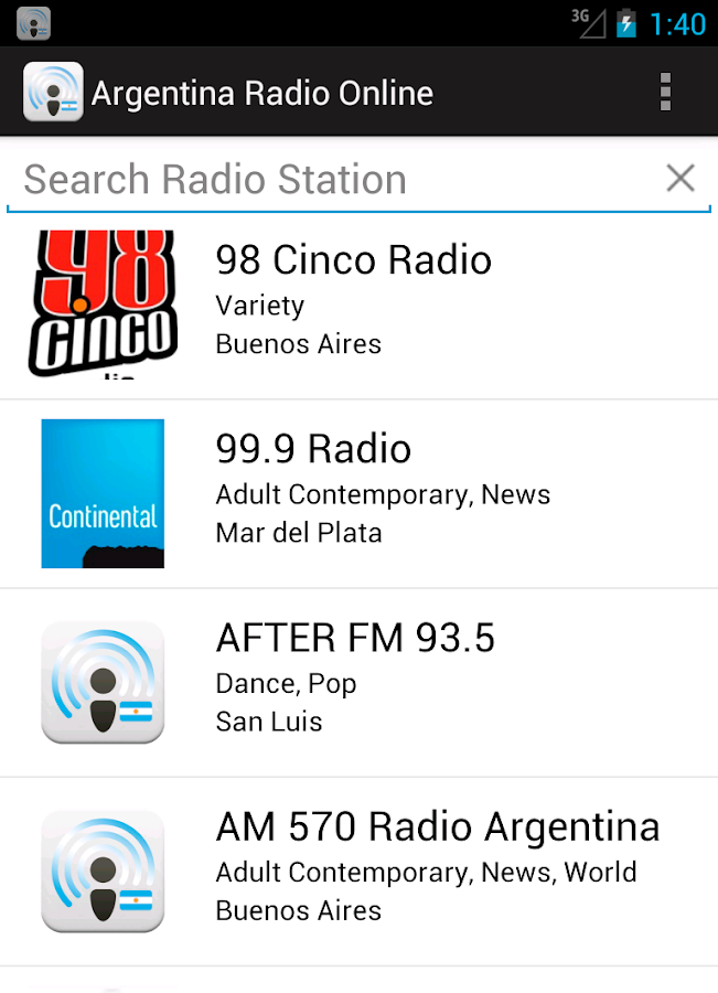Argentina Radio Online - screenshot