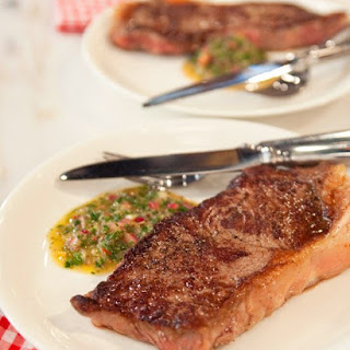 Pan-Seared Steaks with Chimichurri Sauce Recipe