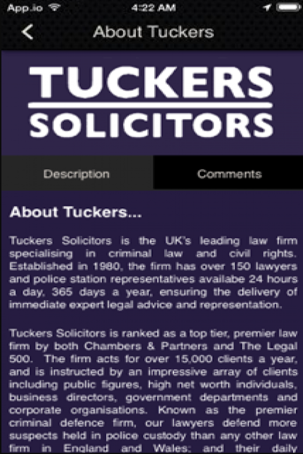 Tuckers Criminal Solicitors- screenshot