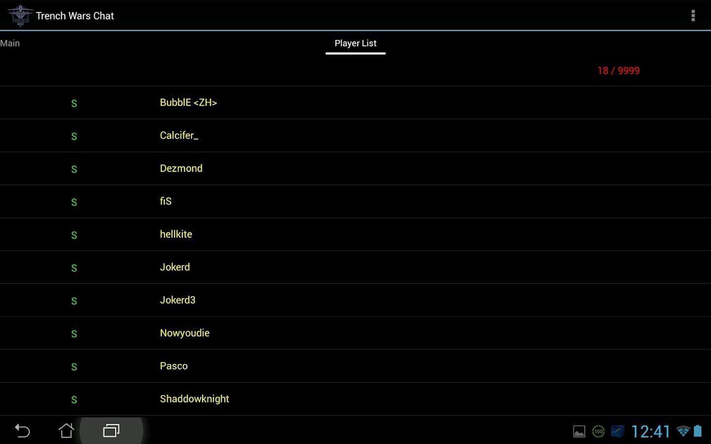 SSCU Trench Wars Chat- screenshot