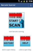 Screenshot of start barcode scanner