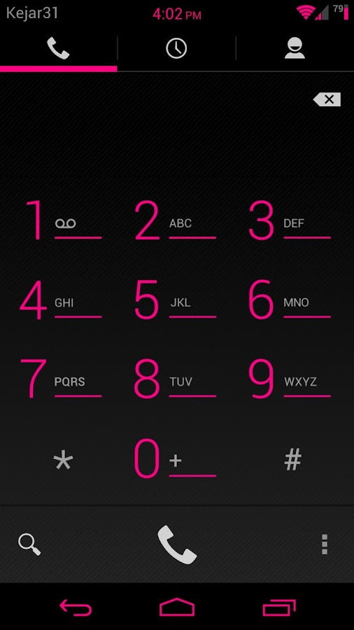 Gummy CM9 Theme PunkRock Pink - screenshot