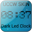 Dark Led Clock UCCW SKIN Free icon