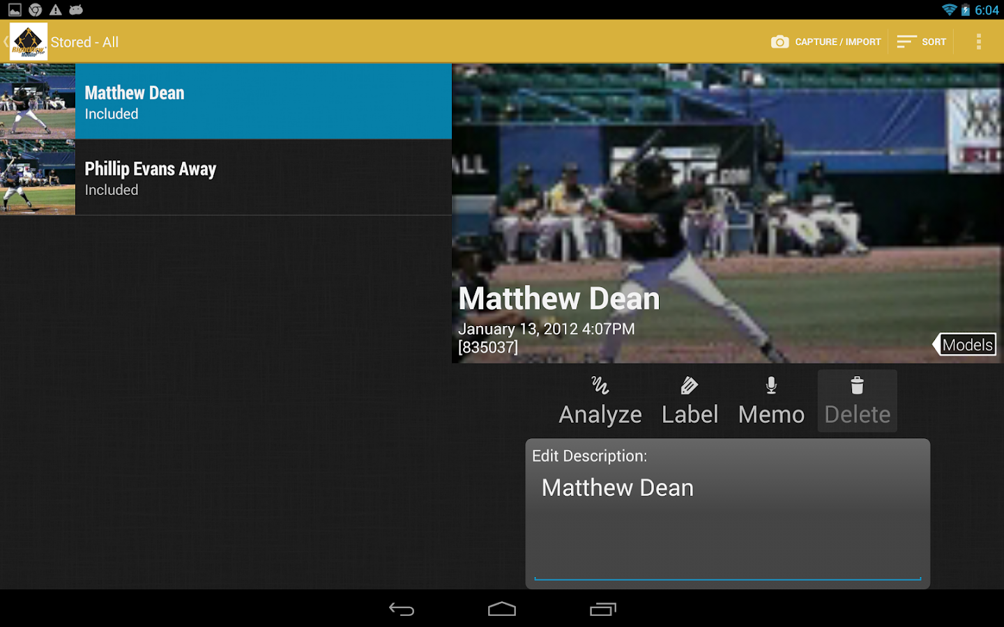 RVP:Baseball & Softball video- screenshot