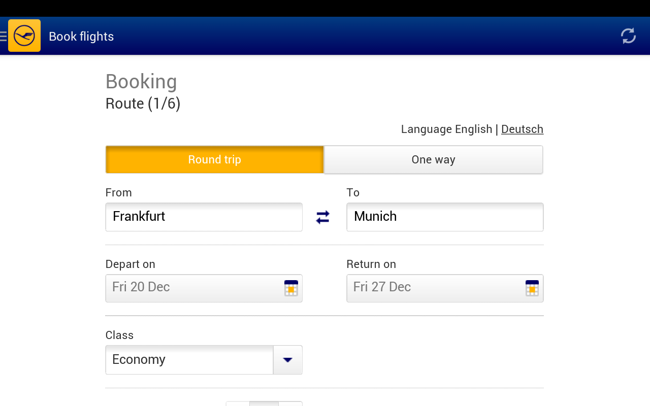 Lufthansa - screenshot