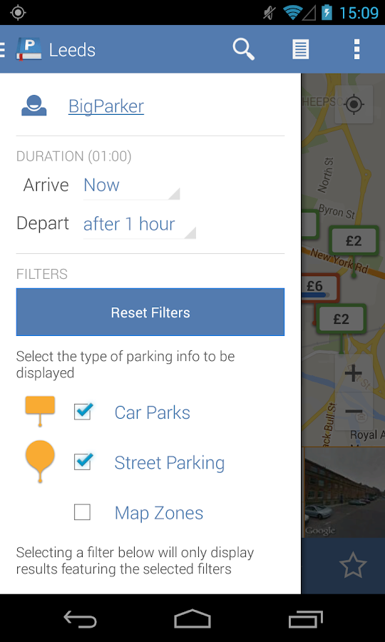 Parkopedia Parking - screenshot