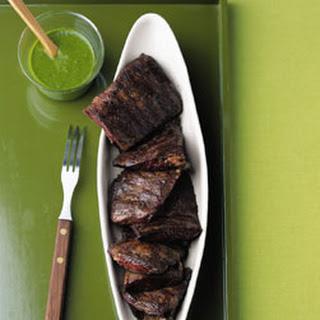 Skirt Steak with Cilantro Garlic Sauce