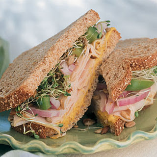 Turkey Stack-Ups with Sweet Curry Mustard Spread.