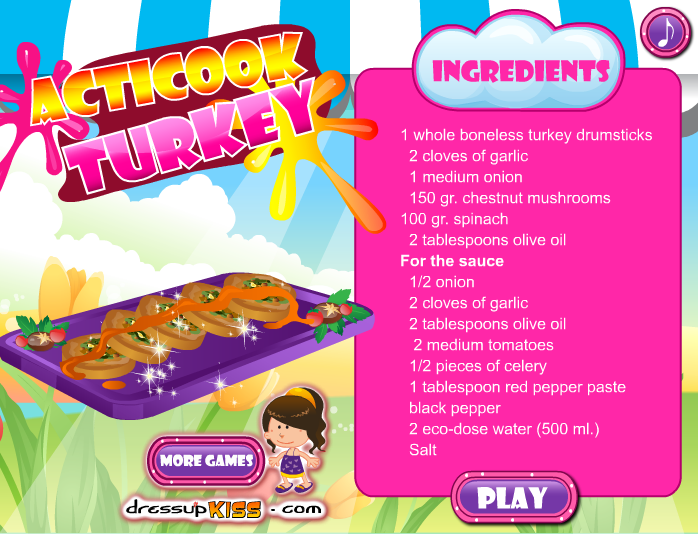 Cook turkey with acticook- screenshot