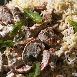 Pork and Mushroom Stroganoff Recipe