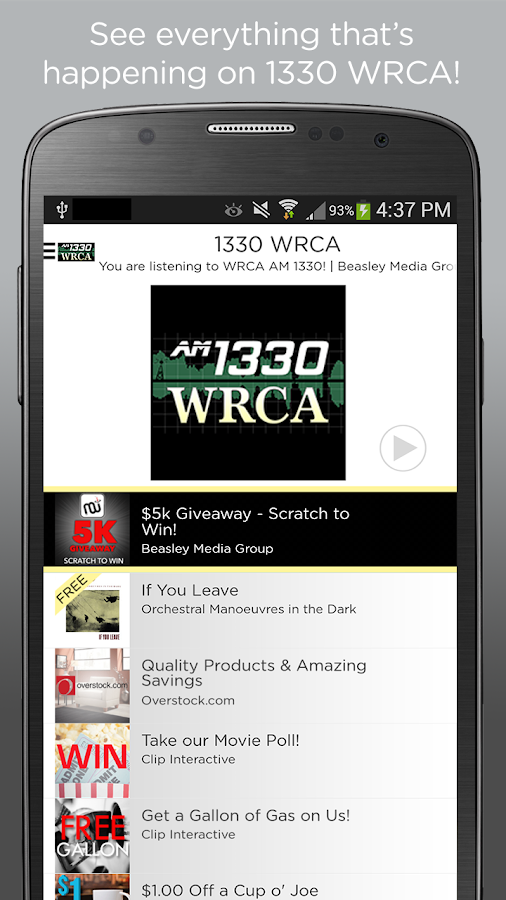 WRCA AM 1330- screenshot