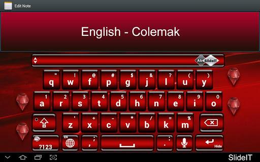 SlideIT English Colemak Pack