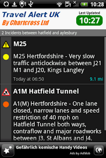 Traffic & Travel Alert UK - screenshot thumbnail