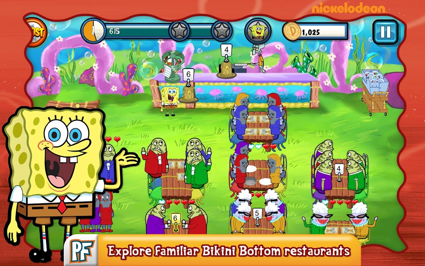 spongebob diner dash deluxe android apps on google play