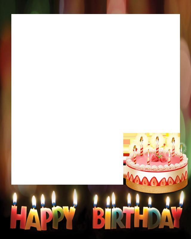 birthday cake photo frame screenshot